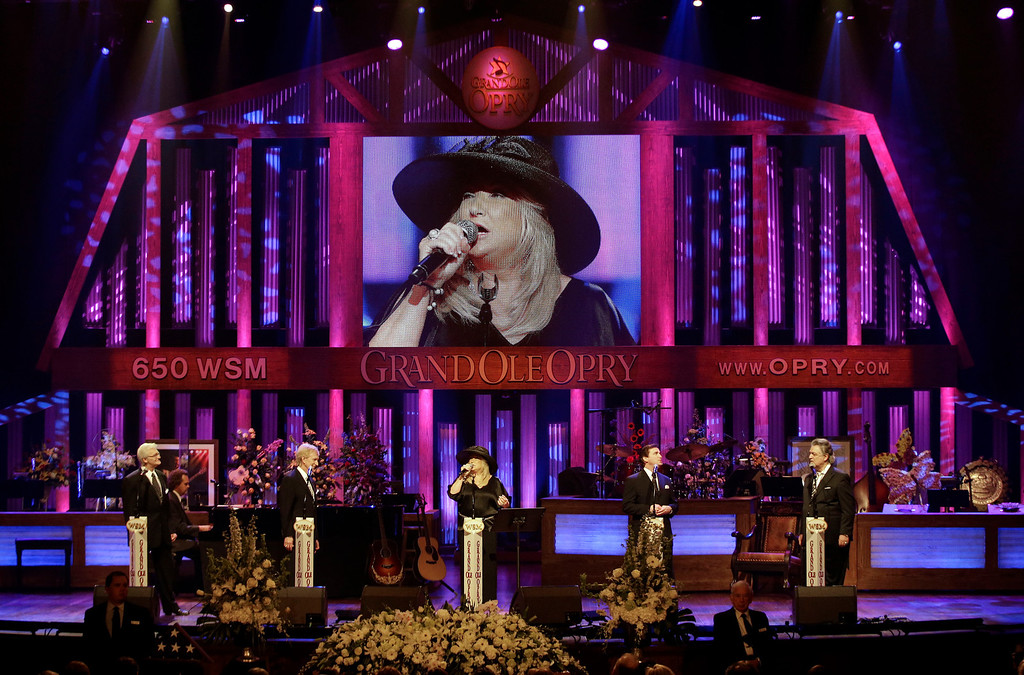. Tanya Tucker and the Imperials perform during the funeral for country music star George Jones in the Grand Ole Opry House on Thursday, May 2, 2013, in Nashville, Tenn.  (AP Photo/Mark Humphrey, Pool)