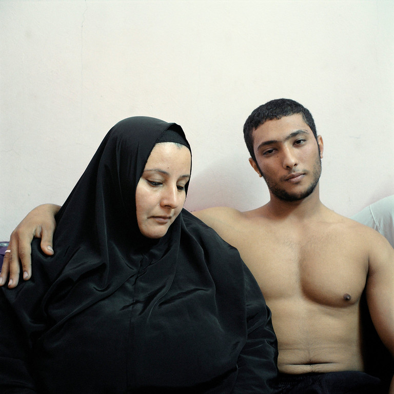 . This picture by French photographer Denis Dailleux, Agence Vu won 2nd Prize in People Staged Portraits Stories category of the 57th World Press Photo Contest, it was announced by the organizers in Amsterdam, The Netherlands, 14 February 2014. It shows Ali and his mother in Cairo, Eypt.  EPA/DENIS DAILLEUX / AGENCE VU