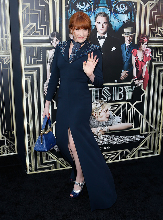". Musician Florence Welch attends the ""The Great Gatsby\"" world premiere at Avery Fisher Hall at Lincoln Center for the Performing Arts on May 1, 2013 in New York City.  (Photo by Jemal Countess/Getty Images)"