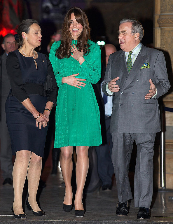 . Britain\'s Catherine, Duchess of Cambridge leaves the Natural History Museum in London on November 27, 2012 to officially open the new Treasures Gallery. Treasures is a permanent gallery in the museum\'s Central Hall and will showcase 22 extraordinary objects from the museum\'s history, selected for their scientific, cultural and historical worth. ANDREW COWIE/AFP/Getty Images
