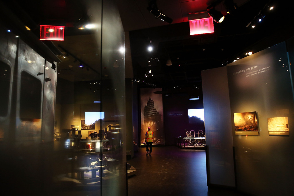 . Artifacts and images from Ground Zero are viewed during a preview of the National September 11 Memorial Museum on May 14, 2014 in New York City.   (Photo by Spencer Platt/Getty Images)