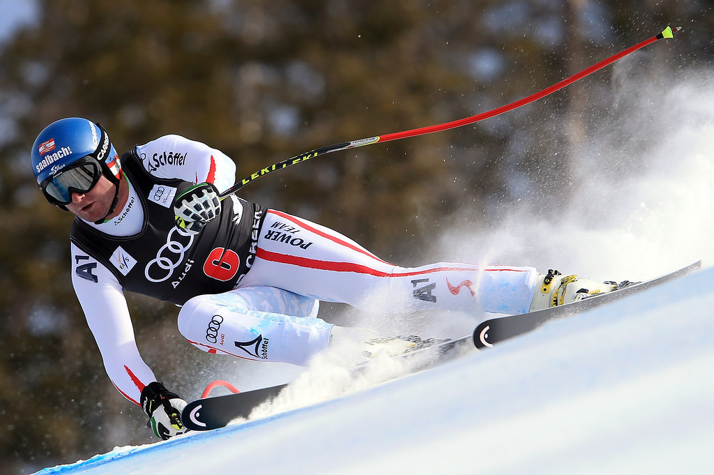 . Georg Streitberger of Austria skis to sixth place in the men\'s downhill on the Birds of Prey at the Audi FIS World Cup on November 30, 2012 in Beaver Creek, Colorado.  (Photo by Doug Pensinger/Getty Images)