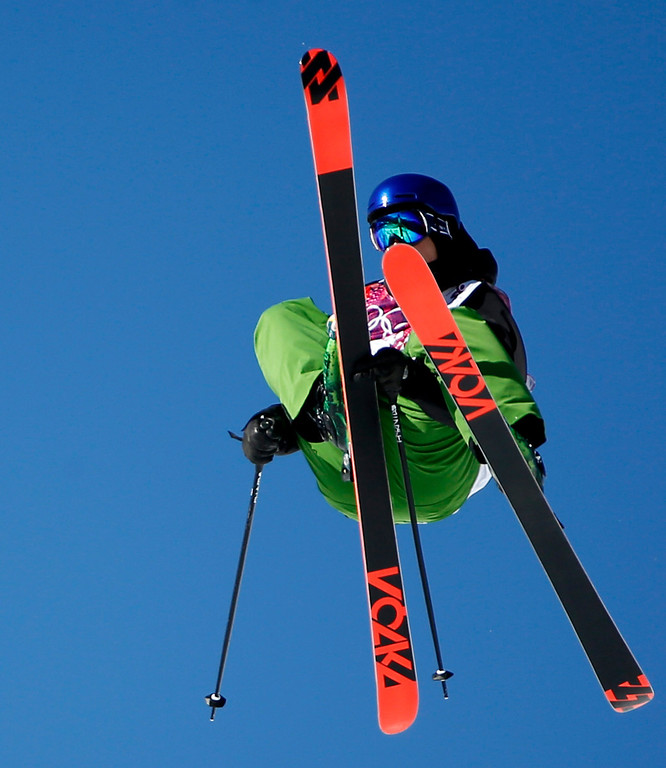 . Markus Eder of Italy in action during the Men\'s Freestyle Skiing Slopestyle qualification in the Rosa Khutor Extreme Park at the Sochi 2014 Olympic Games, Krasnaya Polyana, Russia, 13 February 2014.  EPA/VALDRIN XHEMAJ