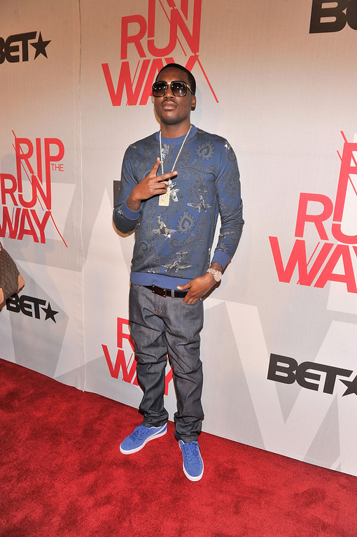 . Meek Mil attends BET\'s Rip The Runway 2013:Red Carpet at Hammerstein Ballroom on February 27, 2013 in New York City.  (Photo by Stephen Lovekin/Getty Images for BET\'s Rip The Runway)