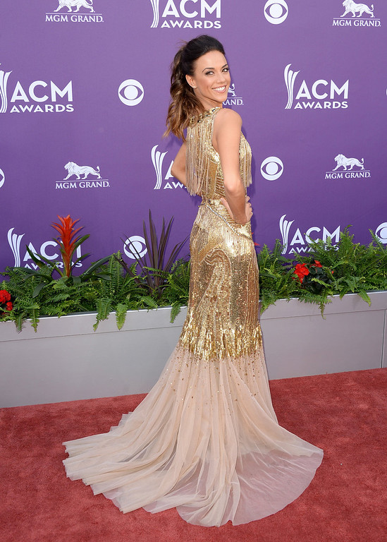 . Singer Jana Kramer arrives at the 48th Annual Academy of Country Music Awards at the MGM Grand Garden Arena on April 7, 2013 in Las Vegas, Nevada.  (Photo by Jason Merritt/Getty Images)