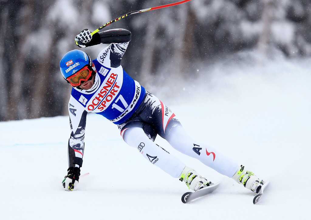 . Georg Streitberger of Austria in action during the 2013 Audi FIS Beaver Creek World Cup Men\'s Super G race on December 7, 2013 in Beaver Creek, Colorado.  (Photo by Doug Pensinger/Getty Images)