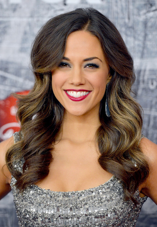 . LAS VEGAS, NV - DECEMBER 10:  Singer Jana Kramer arrives at the 2012 American Country Awards at the Mandalay Bay Events Center on December 10, 2012 in Las Vegas, Nevada.  (Photo by Frazer Harrison/Getty Images)