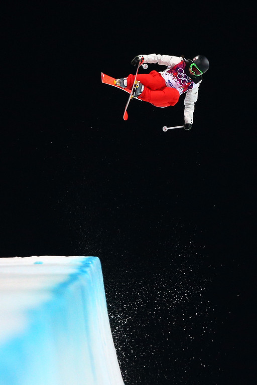 . Virginie Faivre of Switzerland competes in the Freestyle Skiing Ladies\' Ski Halfpipe Finals on day thirteen of the 2014 Winter Olympics at Rosa Khutor Extreme Park on February 20, 2014 in Sochi, Russia.  (Photo by Cameron Spencer/Getty Images)