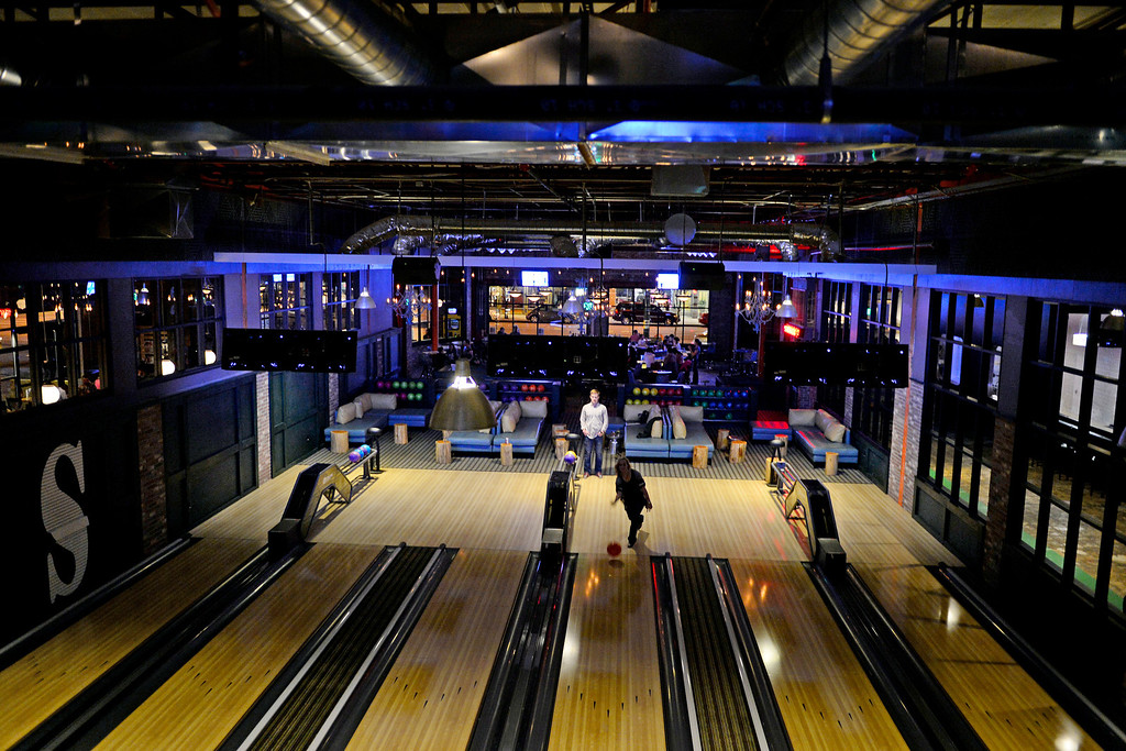 . Patrons bowl at the Punch Bowl on Sunday, November 25, 2012. AAron Ontiveroz, The Denver Post