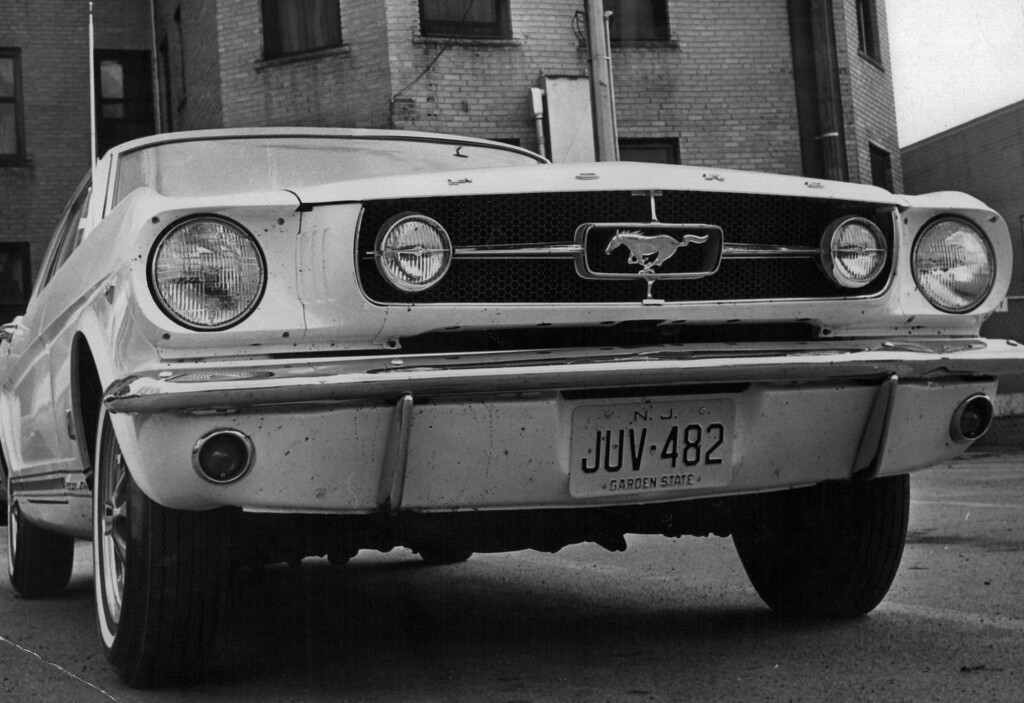 ". Ford\'s Billion Dollar Baby - The Mustang - Gets ""New Look\"" The newly introduced 1965 GT Mustang sports two fog lamps on its grille. Credit: Denver Post"