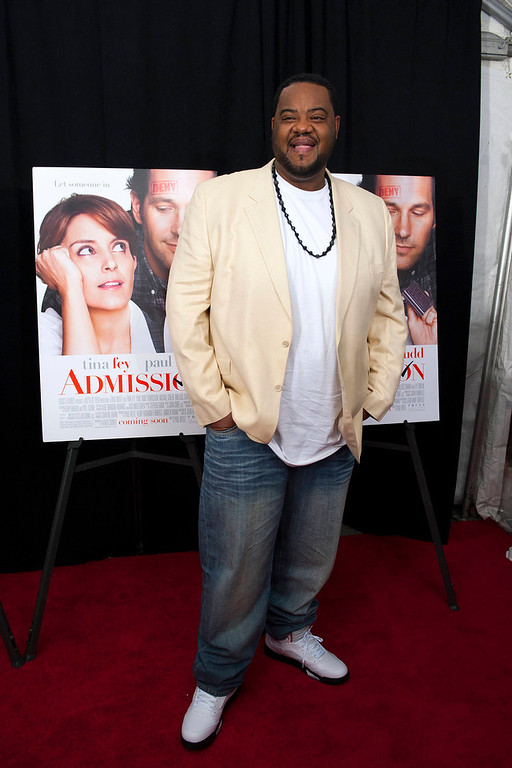""". Actor Grizz Chapman poses at the premiere of \""""Admission\"""" in New York, March 5, 2013. REUTERS/Keith Bedford"""