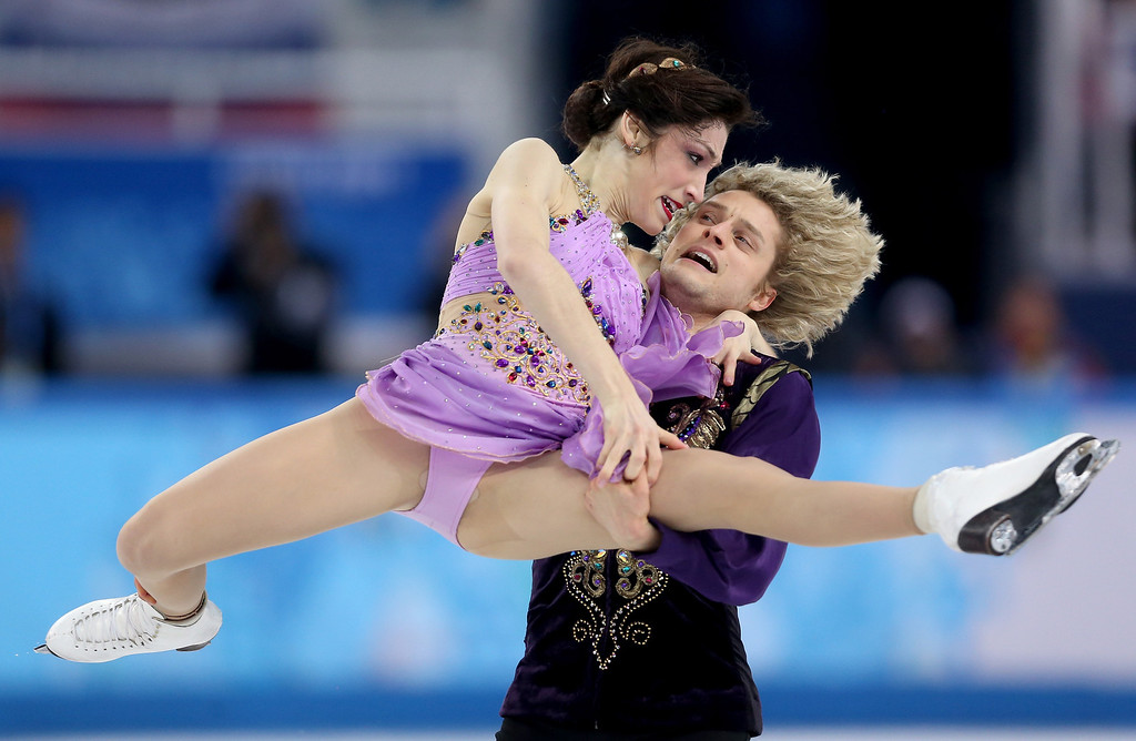 . Meryl Davis and Charlie White of the United States compete in the Figure Skating Ice Dance Free Dance on Day 10 of the Sochi 2014 Winter Olympics at Iceberg Skating Palace on February 17, 2014 in Sochi, Russia.  (Photo by Matthew Stockman/Getty Images)