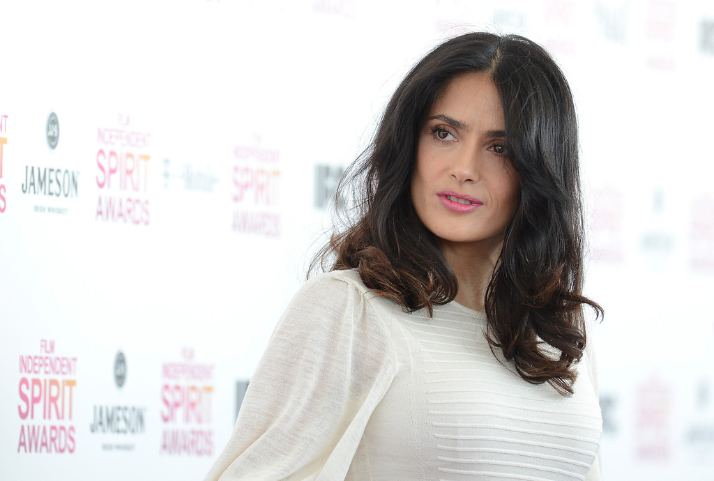 . SANTA MONICA, CA - FEBRUARY 23:  Actress Salma Hayek attends the 2013 Film Independent Spirit Awards at Santa Monica Beach on February 23, 2013 in Santa Monica, California.  (Photo by Jason Merritt/Getty Images)