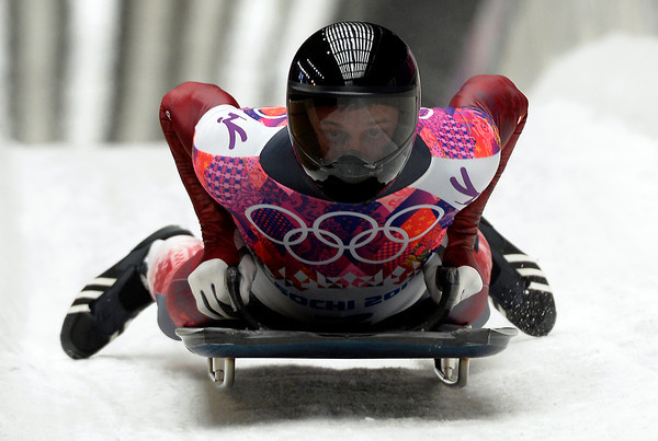 PHOTOS: Men's Skeleton Competition at 2014 Sochi Winter Olympics