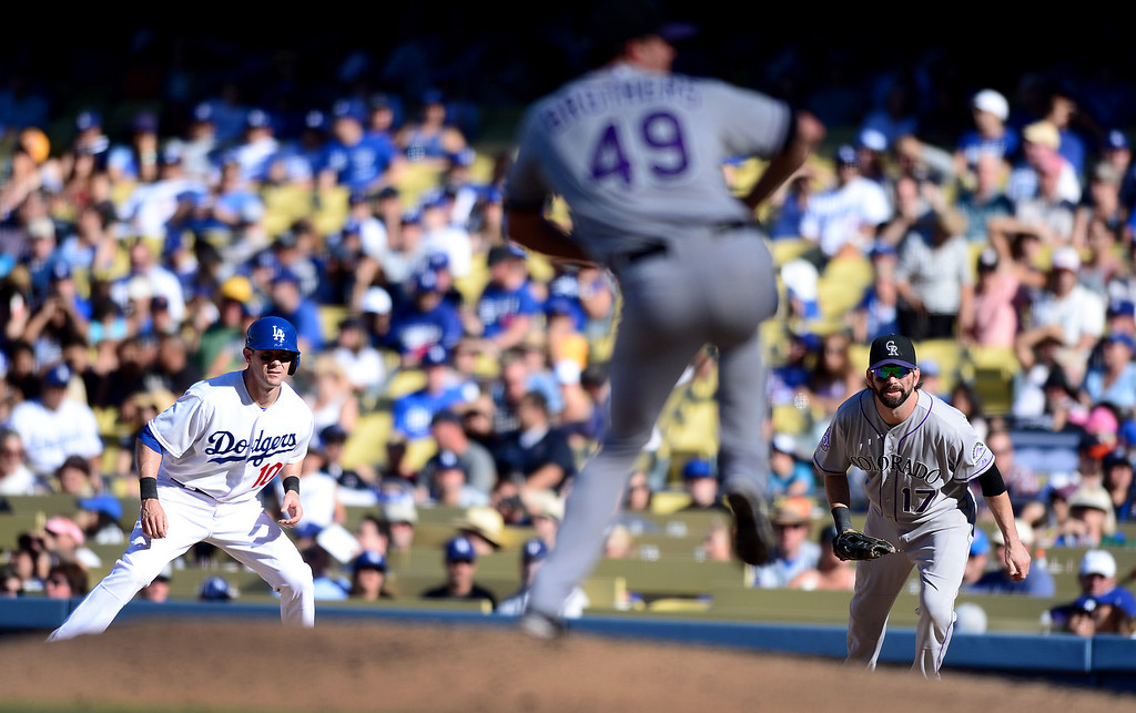 . Rockies\'  first baseman Todd Helton plays his last game of a 17 year career at Dodger Stadium during the final game of the regular season Sunday, September 29, 2013. Helton is retiring after 17 seasons. (Photo by Sarah Reingewirtz/Pasadena Star-News)