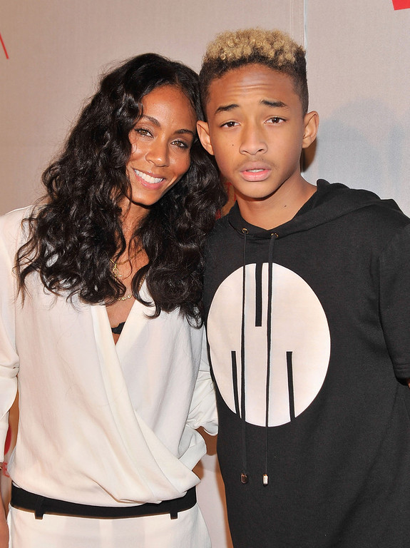 . Actress Jada Pinkett Smith and Jaden Smith attend BET\'s Rip The Runway 2013:Red Carpet at Hammerstein Ballroom on February 27, 2013 in New York City.  (Photo by Stephen Lovekin/Getty Images for BET\'s Rip The Runway)