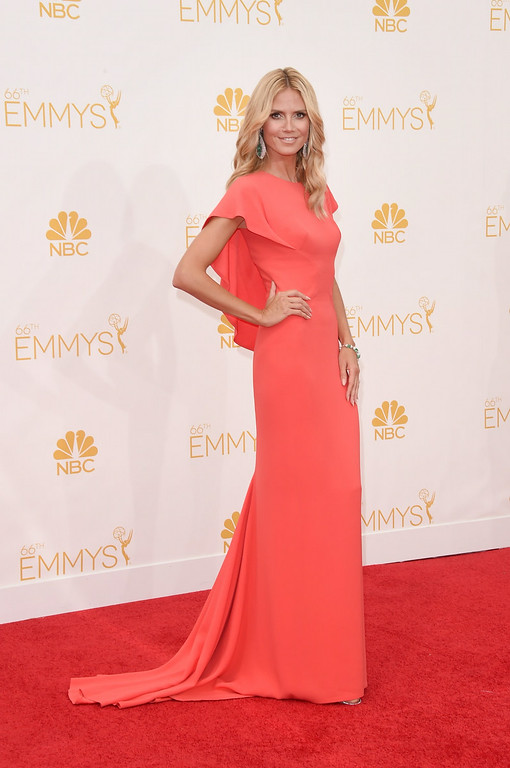 . TV personality Heidi Klum attends the 66th Annual Primetime Emmy Awards held at Nokia Theatre L.A. Live on August 25, 2014 in Los Angeles, California.  (Photo by Jason Merritt/Getty Images)