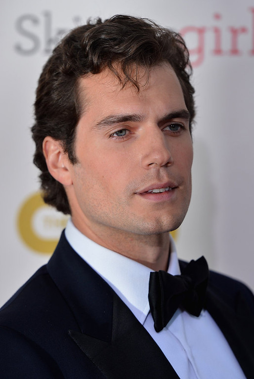 . Actor  Henry Cavill  arrives at the 18th Annual Critics\' Choice Movie Awards at Barker Hangar on January 10, 2013 in Santa Monica, California.  (Photo by Frazer Harrison/Getty Images)