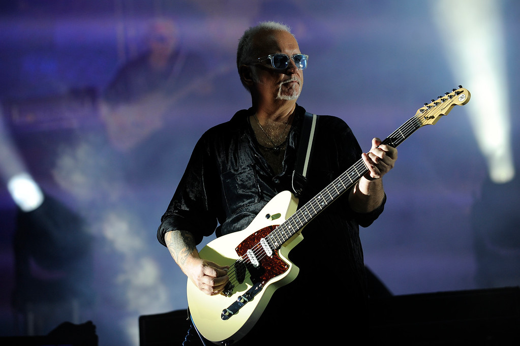 . Reeves Gabrels of The Cure performs during Lollapalooza at Grant Park on August 4, 2013 in Chicago, Illinois. (Photo by Seth McConnell/The Denver Post)