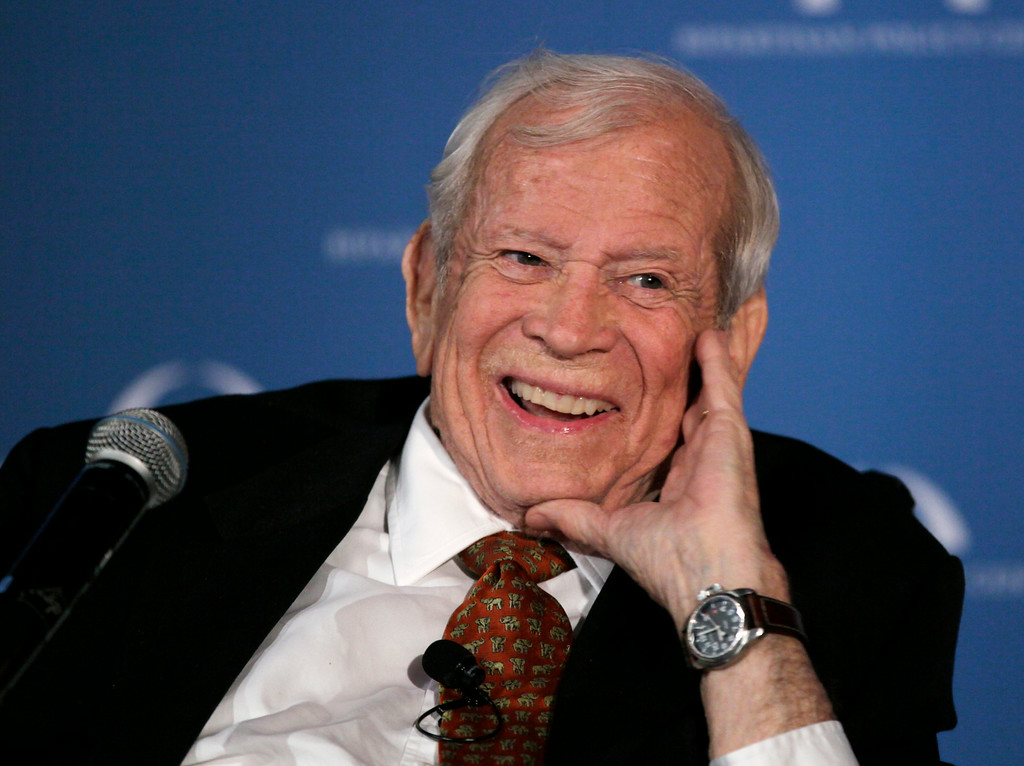 . FILE - This March 21, 2012 file photo shows former Senate Majority Leader Howard Baker in Washington, who has died. (AP Photo/Carolyn Kaster, File)