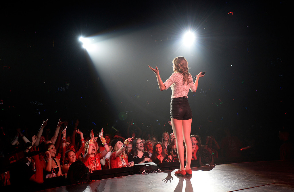 . Taylor Swift performs to a sold out crowd June 2, 2013 during her Red Tour stop in Denver at Pepsi Center. (Photo By John Leyba/The Denver Post)