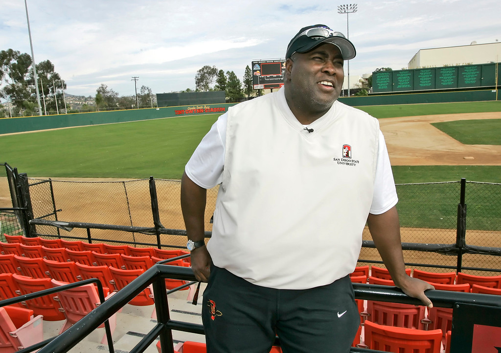 . Former San Diego Padre Tony Gwynn talks about what it would mean if he is elected to the National Baseball Hall of Fame during an interview in San Diego Tuesday, Dec. 26, 2006.  (AP Photo/Lenny Ignelzi)