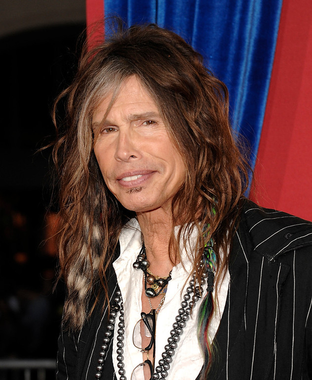 ". Singer Steven Tyler arrives at the world premiere of the feature film ""The Incredible Burt Wonderstone\"" at the TCL Chinese Theatre on Monday, March 11, 2013 in Los Angeles. (Photo by Dan Steinberg/Invision/AP)"