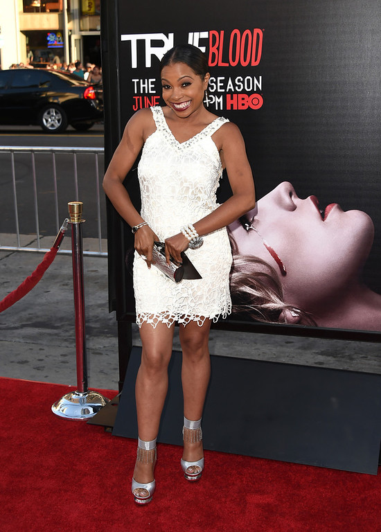 ". Actress Paula Jai Parker attends the premiere of HBO\'s ""True Blood\"" season 7 and final season at TCL Chinese Theatre on June 17, 2014 in Hollywood, California.  (Photo by Jason Merritt/Getty Images)"