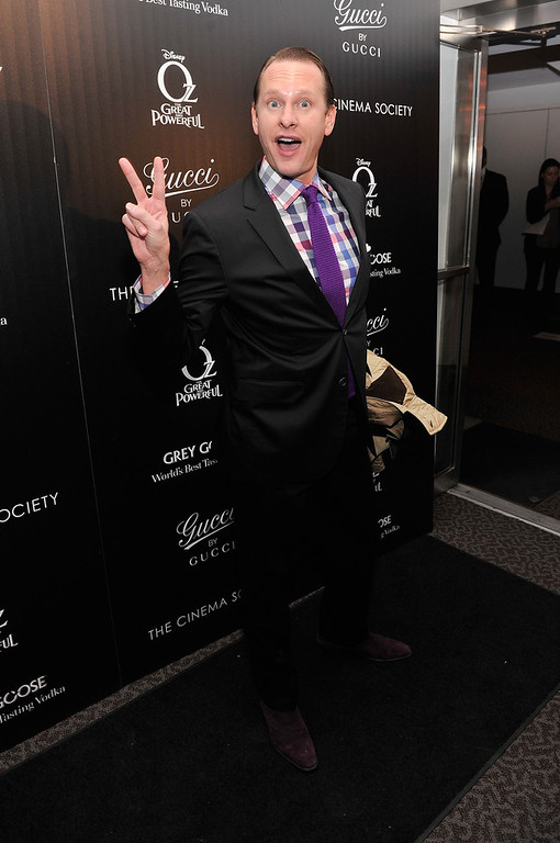 ". Carson Kressley attends the Gucci and The Cinema Society screening of ""Oz the Great and Powerful\"" at the DGA Theater on March 5, 2013 in New York City.  (Photo by Stephen Lovekin/Getty Images)"