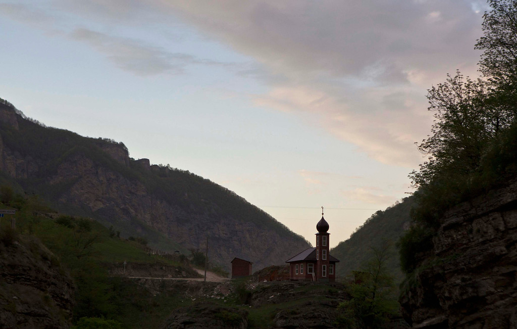 . A mosque is seen in Argun Gorge in Chechnya, April 29, 2013. The naming of two Chechens, Dzhokhar and Tamerlan Tsarnaev, as suspects in the Boston Marathon bombings has put Chechnya - the former site of a bloody separatist insurgency - back on the world\'s front pages. Chechnya appears almost miraculously reborn. The streets have been rebuilt. Walls riddled with bullet holes are long gone. New high rise buildings soar into the sky. Spotless playgrounds are packed with children. A giant marble mosque glimmers in the night. Yet, scratch the surface and the miracle is less impressive than it seems. Behind closed doors, people speak of a warped and oppressive place, run by a Kremlin-imposed leader through fear.   Picture taken April 29, 2013.   REUTERS/Maxim Shemetov