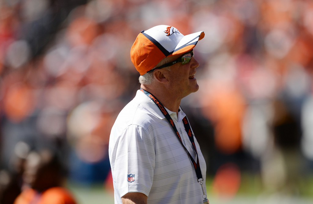 . Head Coach John Fox of Denver Broncos is in Sports Authority Field at Mile High for the Broncos scrimmage at Denver, Colorado. August 02. 2014. (Photo by Hyoung Chang/The Denver Post)