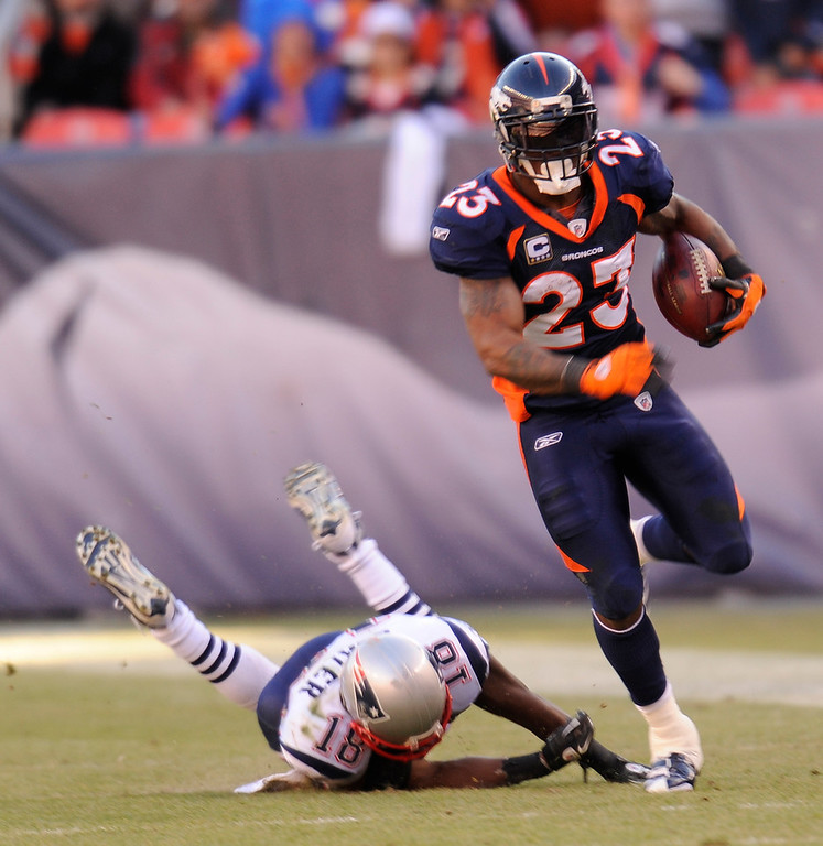 . Denver Broncos running back Willis McGahee during the first quarter of play December 18, 2011 at Sports Authority Field at Mile High.  Tim Rasmussen, The Denver Post