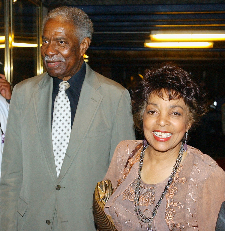 . Ruby Dee and Ossie Davis arrive for a memeorial celebration honoring the artistic legacy of Gregory Hines Sunday Sept. 21, 2003 at New York\'s Apollo Theater. Hines died at age 57. (AP Photo/Frank Franklin II)
