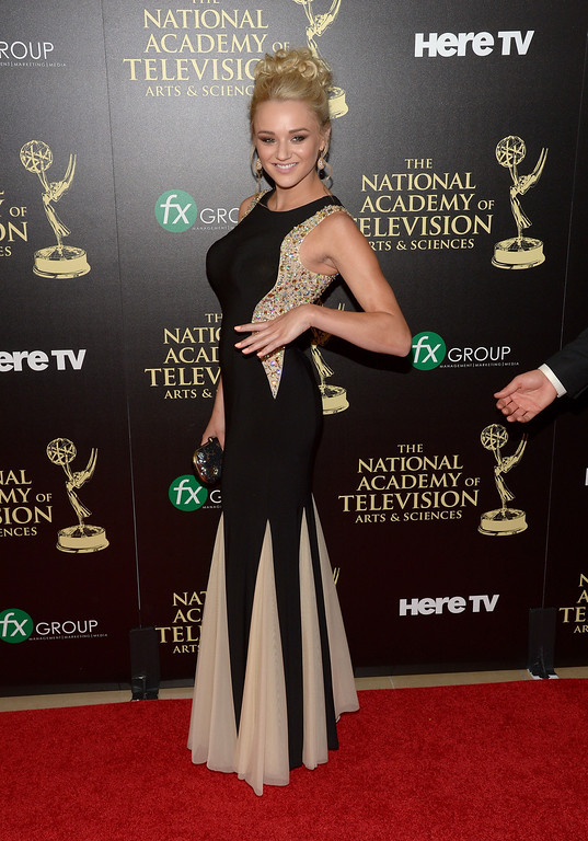 . Actress Hunter King attends The 41st Annual Daytime Emmy Awards at The Beverly Hilton Hotel on June 22, 2014 in Beverly Hills, California.  (Photo by Jason Kempin/Getty Images)