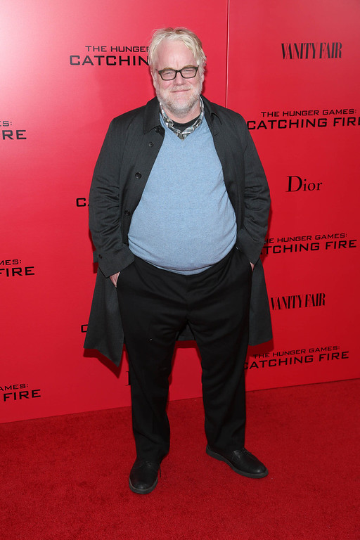 ". According to reports February 2, 2014, Philip Seymour Hoffman, 46, was found dead in his New York Cit apartment.  Phillip Seymour Hoffman attends a special screening of ""The Hunger Games: Catching Fire\"" on November 20, 2013 in New York City.  (Photo by Rob Kim/Getty Images)"