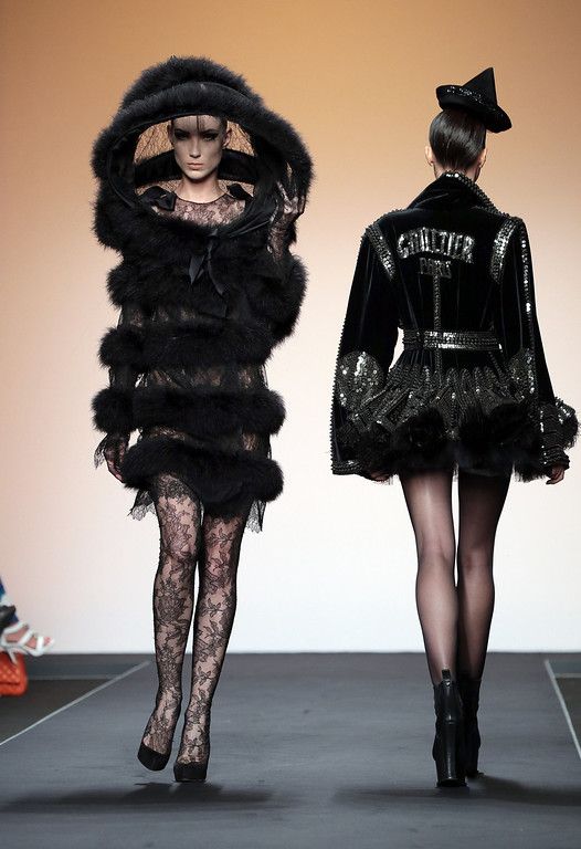 . Models walk the runway during Jean Paul Gaultier Houte Couture Paris fashion show as part of AltaRoma AltaModa Fashion Week at Santo Spirito in Sassia on July 7, 2013 in Rome, Italy.  (Photo by Elisabetta Villa/Getty Images)