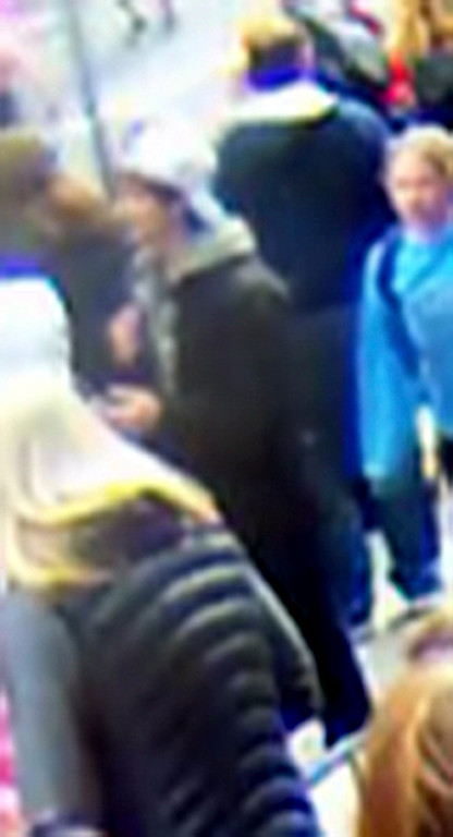 . Suspect wanted for questioning in relation to the Boston Marathon bombing April 15 is  revealed in this handout photo during an FBI news conference in Boston, April 18, 2013.  REUTERS/FBI/Handout