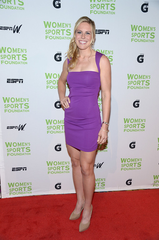 . NEW YORK, NY - OCTOBER 16:  Olympic rower Esther Lofgren attends the 34th annual Salute to Women In Sports Awards at Cipriani, Wall Street on October 16, 2013 in New York City.  (Photo by Michael Loccisano/Getty Images for the Women\'s Sports Foundation)
