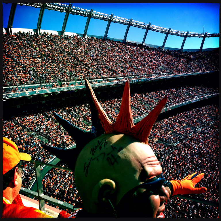 . Ruben Martinez cheers on the Broncos. Photo by Craig F. Walker.