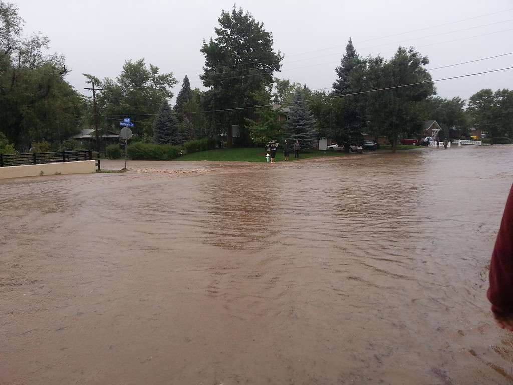 . Flooding at the boulder creek 9/13/13. Photo by Costa Skodras
