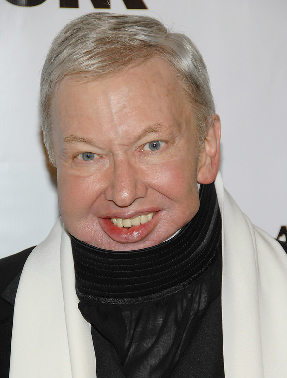 . Roger Ebert is shown in this, Nov. 27, 2007, file photo in New York.  (AP Photo/Evan Agostini, file)