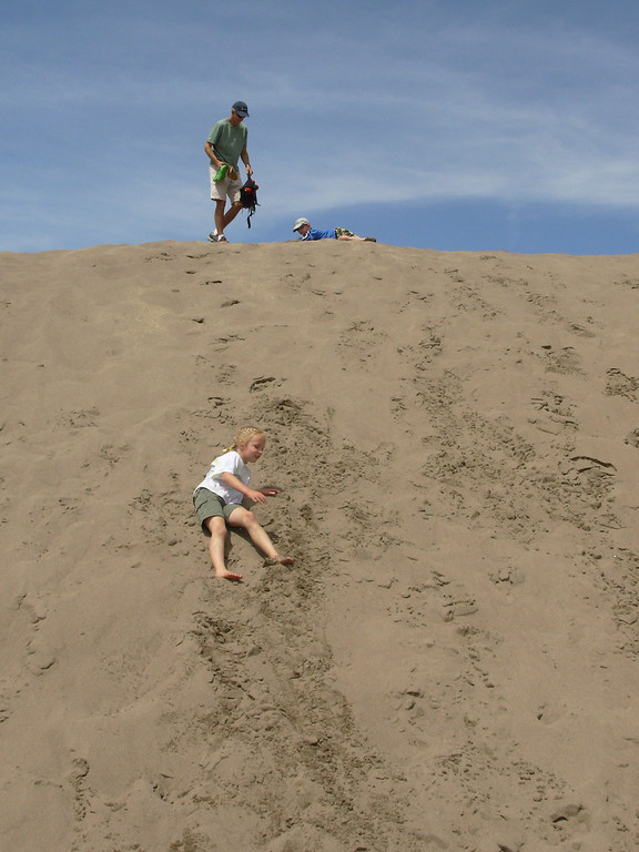 . Rolling down the sand dunes at Great Sand Dunes National Park & Preserve is as much fun as it looks.  Photo provided by Kara Williams