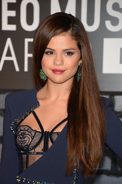. Selena Gomez attends the 2013 MTV Video Music Awards at the Barclays Center on August 25, 2013 in the Brooklyn borough of New York City.  (Photo by Jamie McCarthy/Getty Images for MTV)