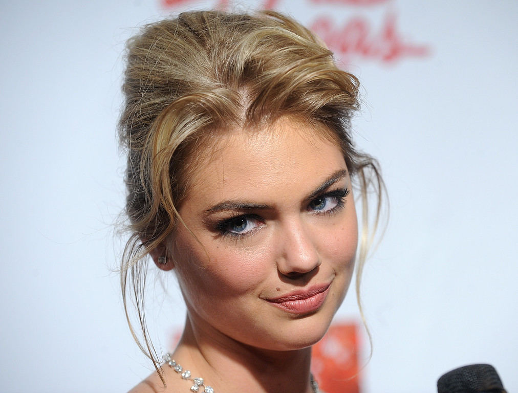 . Model Kate Upton attends the 2013 Sports Illustrated Swimsuit issue launch party at Crimson on Tuesday, Feb. 12, 2013 in New York. (Photo by Brad Barket/Invision/AP)
