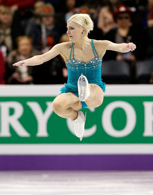 . Viktoria Helgesson of Sweden performs during the Ladies Short Program at the ISU World Figure Skating Championships in London, Ontario, March 14, 2013. REUTERS/Mark Blinch