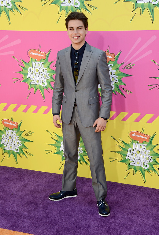 . LOS ANGELES, CA - MARCH 23:  Actor Jake T. Austin arrives at Nickelodeon\'s 26th Annual Kids\' Choice Awards at USC Galen Center on March 23, 2013 in Los Angeles, California.  (Photo by Frazer Harrison/Getty Images for KCA)