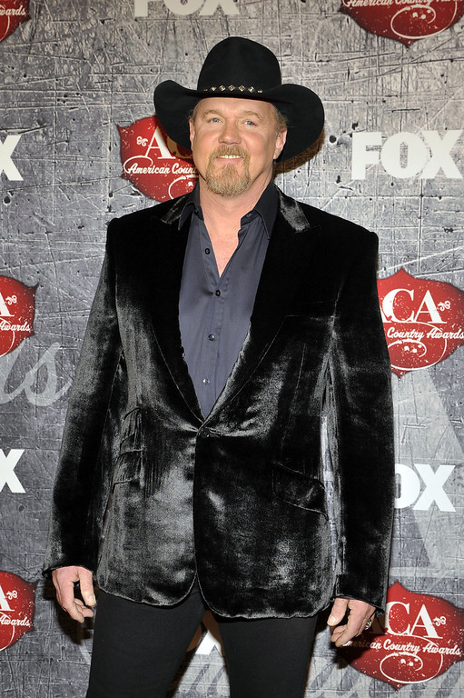 . Co-host Trace Adkins arrives at the American Country Awards on Monday, Dec. 10, 2012, in Las Vegas. (Photo by Jeff Bottari/Invision/AP)
