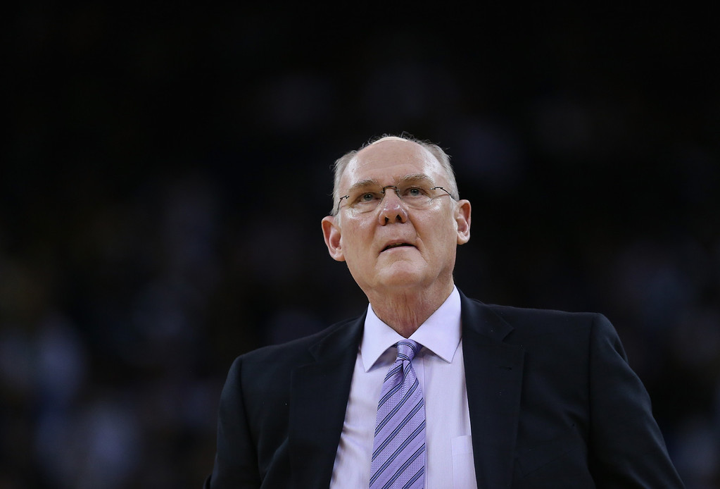 . OAKLAND, CA - NOVEMBER 29: Head coach George Karl of the Denver Nuggets walks the sideline during their game against the Golden State Warriors at Oracle Arena on November 29, 2012 in Oakland, California.  (Photo by Ezra Shaw/Getty Images)