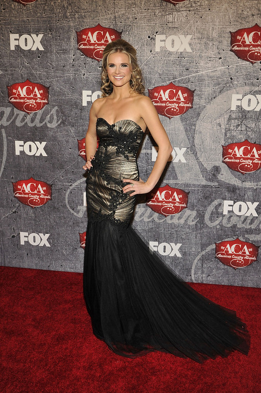 . Singer Kristy Lee Cook arrives at the American Country Awards on Monday, Dec. 10, 2012, in Las Vegas. (Photo by Jeff Bottari/Invision/AP)
