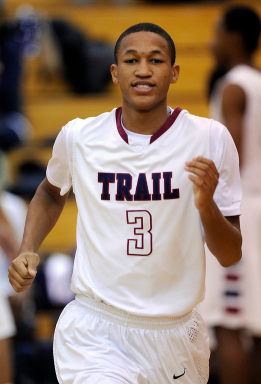 . Cougars senior guard Solomon Yon had the game winner Friday night. The Cherokee Trail boy\'s basketball team defeated Overland 59-57 Friday night, January 11, 2013. Karl Gehring/The Denver Post